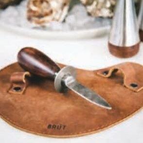 Ostronkniv från Brût med handske/läderskydd