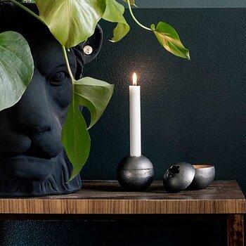 Stumpljusstake,  smart ljusstake, svensk design - Grå