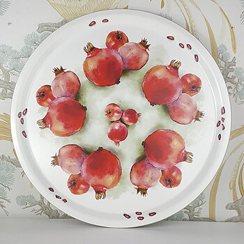 Bricka rund Pomegranate 38 cm