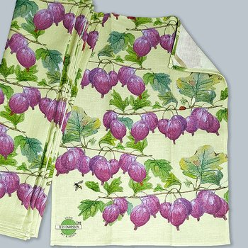 Kitchen towel linenmix Red Gooseberry 44x55 cm