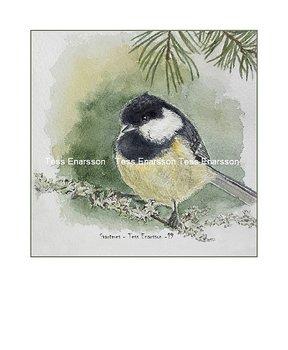 Konstkort Tryck Svartmes