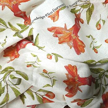 Draperi 100% Linne i Pomegranate Flower