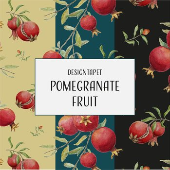 Designtapet Pomegranate Fruit