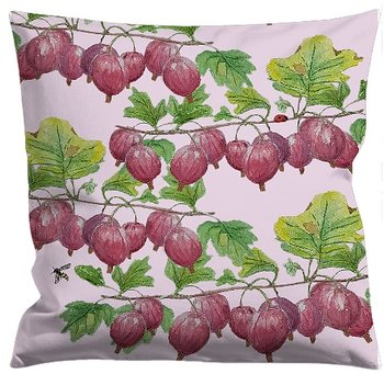 Cushioncover Röda Krusbär (Red Gooseberries) Pink 40x40 cm