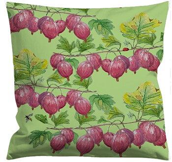 Cushioncover Röda Krusbär Avokadogreen 40x40 cm