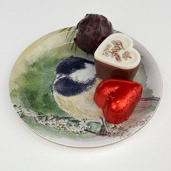 Glasunderlägg/Coaster med kant Svartmes