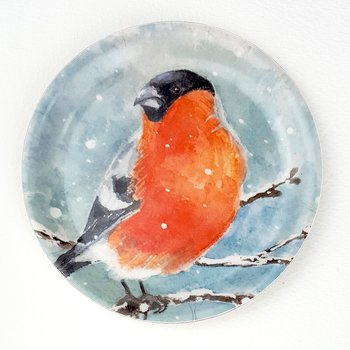 Coaster with border - Bullfinch