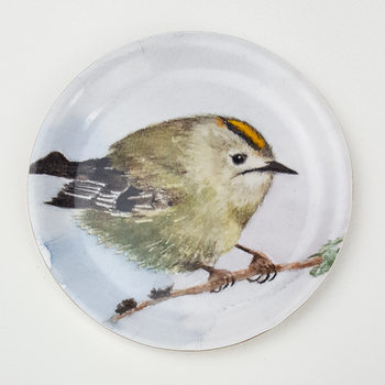 Coaster with border - Goldcrest