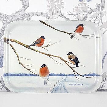 Tray 27x20 cm Domherrar (Bullfinches)