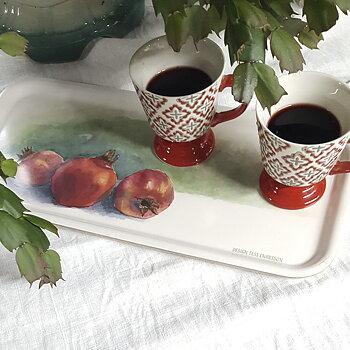 Tray 32x15 cm Pomegranates