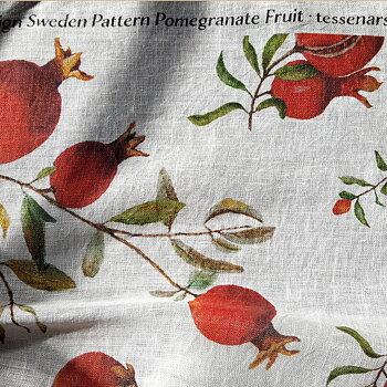 Tyg 100% Linne i Pomegranate Fruit