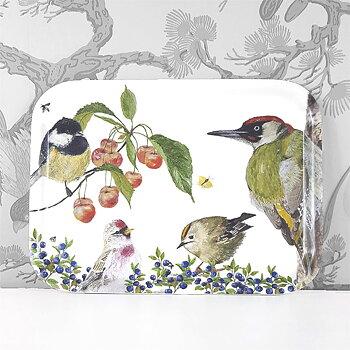 Tray 27x20 cm Fågelliv (Birdslife)