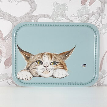 Tray 27x20 cm Kattsmyg (Sneaking cat)