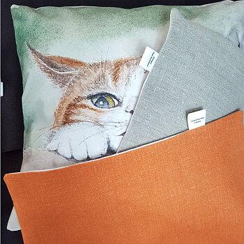 Kuddfodral Katt på smygjakt 40x40 cm