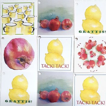 Konstkort 7x7 cm Mix 10-pack