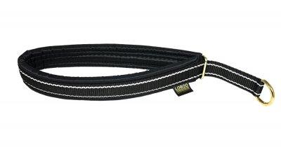 Loboo Halsband Polstrad Halvstryp med Reflex 40mm (Färg: Svart, Längd: 60cm)