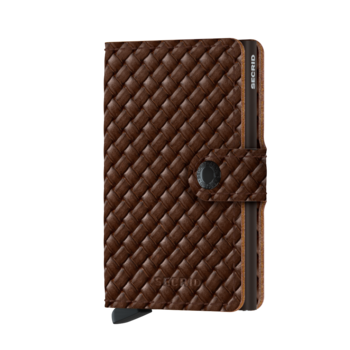 Secrid Miniwallet Basket Brown - Skinnplånbok