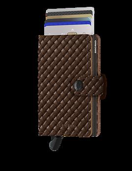 Secrid Miniwallet Basket Brown - Skinnplånbok