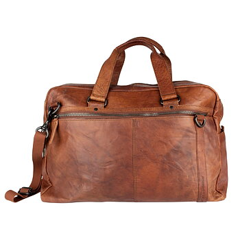 Spikes & Sparrow Weekendbag Brandy i Läder