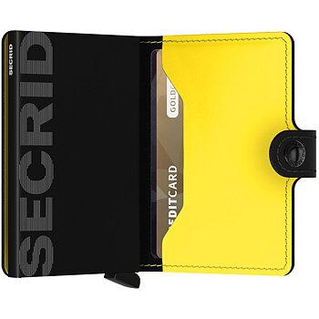 Secrid Miniwallet Matte Black & Yellow - Skinnplånbok