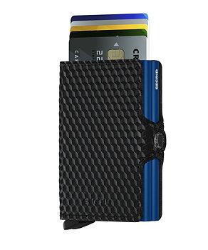 Secrid Twinwallet Cubic Black Blue Skinnplånbok