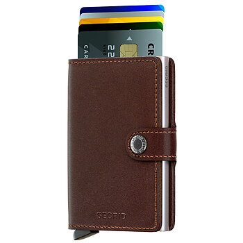 Secrid Miniwallet Original Dark Brown Skinnplånbok