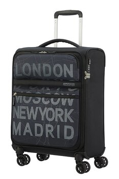 American Tourister Matchup City Map Black 55 cm Kabinväska