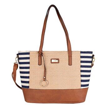 Lycke Strå Handväska Marinblå