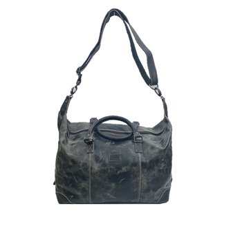 The Monte Vintage Weekendbag Svart i Skinn