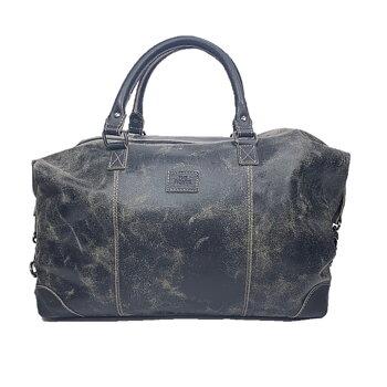 The Monte Vintage Weekendbag Svart i Skinn