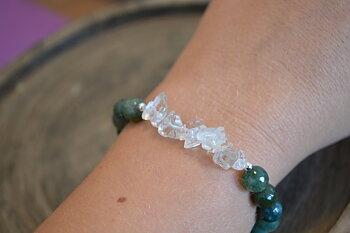 Armband - Mossagatn & Bergskristall