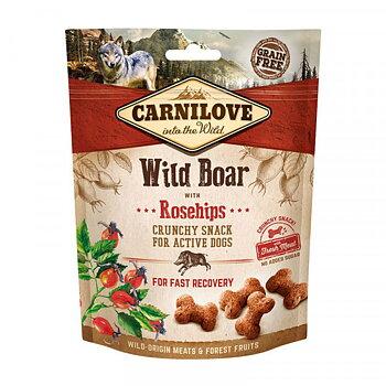 Hundgodis Crunchy Snack Wildboar& Rosehip Spannmålsfri- CARNILOVE