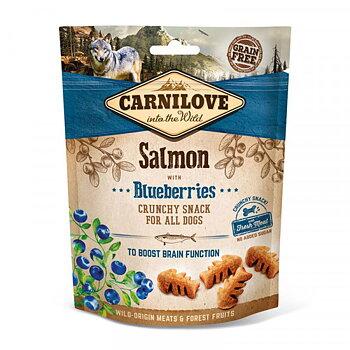 Hundgodis Crunchy Snack Salmon & Blueberries Spannmålsfri- CARNILOVE