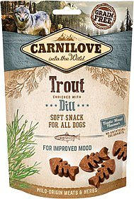 Hundgodis Semi Moist Snack Trout & Dill Spannmålsfri- CARNILOVE