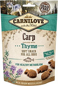 Hundgodis Semi Moist Snack Carp  & Thyme Spannmålsfri- CARNILOVE