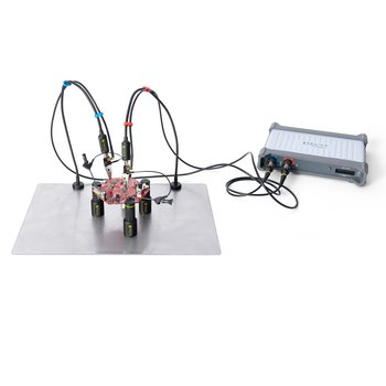 PCBite kit with 2x SP100 100 Mhz handsfree oscilloscope probes
