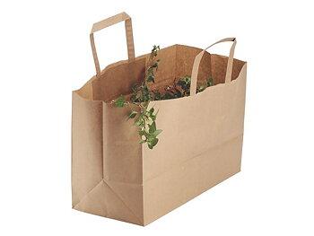 Pappersbärkasse plant 17l brun 250/FP