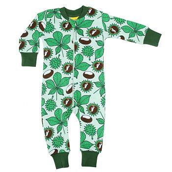 Grön zipsuit med kastanjer - Duns