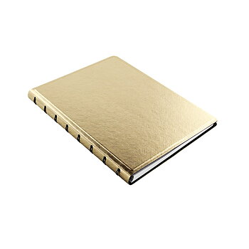 Filofax Notebook Gold A5