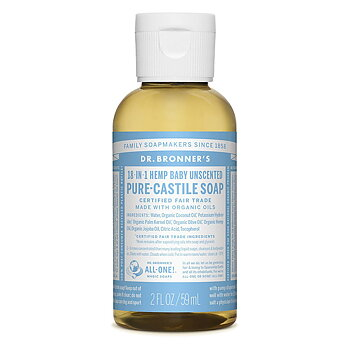 Dr Bronner's Pure Castile Liquid Soap Neutral EKO 59 ml