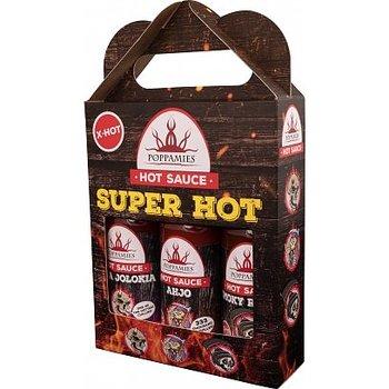 SuperHot 3 x 150ml giftset, Naga, ahjo, smoky- Poppamies