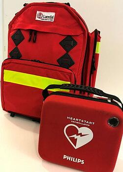 Sjukvårdsryggsäck med hjärtstartare HS1