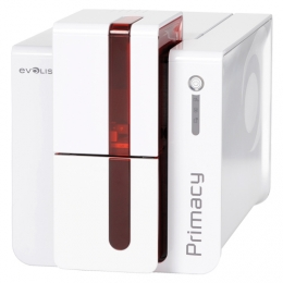Evolis Primacy, single sided, 12 dots/mm (300 dpi), USB, Ethernet, smart, contactless, red