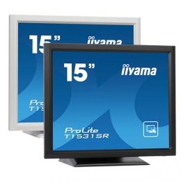 iiyama ProLite T1521MSC, 38.1 cm (15''), Projected Capacitive, 10 TP, black