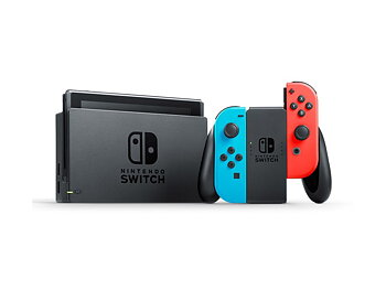 Nintendo Switch (2019) Blå/Röd - Fyndvara