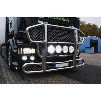 LEDSON DRL-insats som passar Scania 4 och R-serie (Xenonvit, ett par, E märkt)