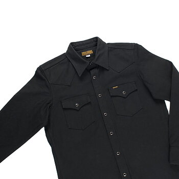 Iron Heart - 13oz Military Serge Western Shirt - Black
