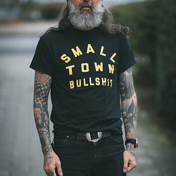 Small Town Bullshit - Black/Yellow Tee