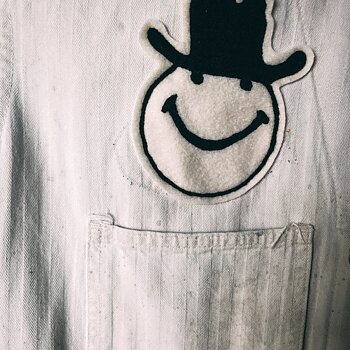 BW Smiley - Chainstitch Patch
