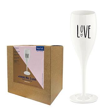 Koziol Champagneglas med Print LOVE 6-pack